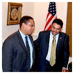 Esam Omeish with Congressman Keith Ellison